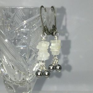 Rainbow Moonstone Swarovski Pearl Earrings